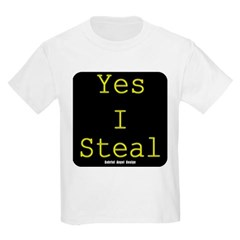 Yes I Steal Youth T-Shirt by Hanes