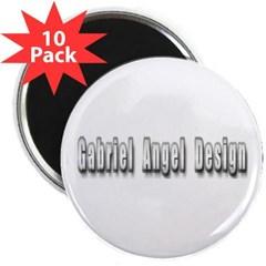 """Gabriel Angel Design Metal Logo 2.25"""" Magnet 10 pack"""