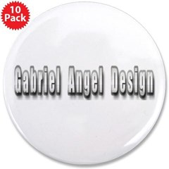 "Gabriel Angel Design Metal Logo 3.5"" Buttons 10 pack"