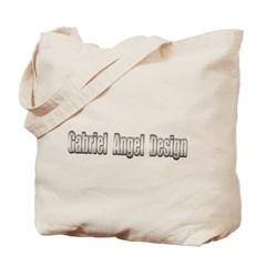 Gabriel Angel Design Metal Logo Canvas Tote Bag