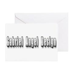 Gabriel Angel Design Metal Logo Greeting Card 10 pack
