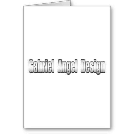 Gabriel Angel Design Metal Logo Greeting Card