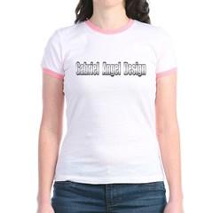 Gabriel Angel Design Metal Logo Junior Ringer T-Shirt