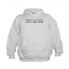 Gabriel Angel Design Metal Logo Kids Sweatshirt by Hanes