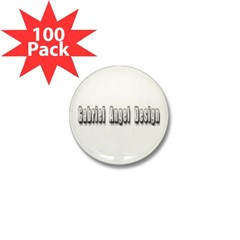 Gabriel Angel Design Metal Logo Mini Button 100 pack