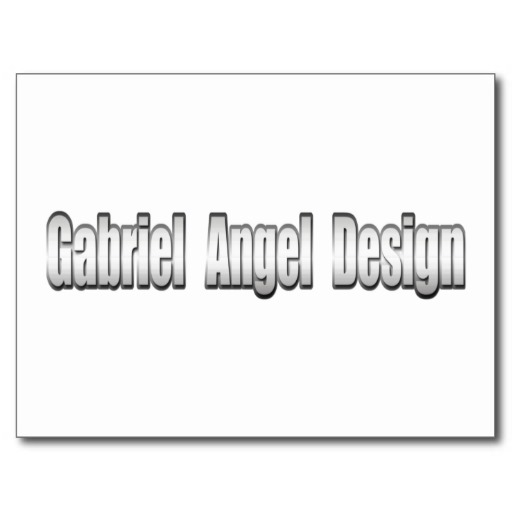 Gabriel Angel Design Metal Logo Postcard