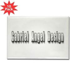 Gabriel Angel Design Metal Logo Rectangle Magnet 10 pack