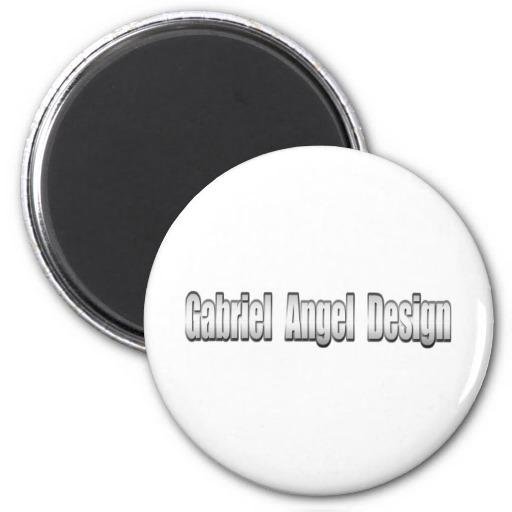 Gabriel Angel Design Metal Logo Refrigerator Magnets