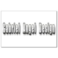 Gabriel Angel Design Metal Logo Small Posters