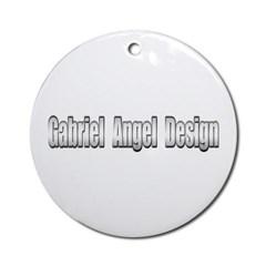Gabriel Angel Design Ornament (Round)