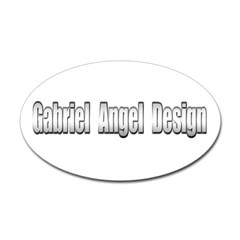 Gabriel Angel Design Oval Decal