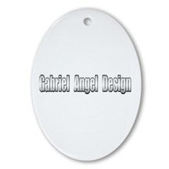 Gabriel Angel Design Oval Ornament