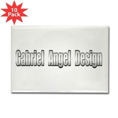 Gabriel Angel Design Rectangle Magnet (10 pack)
