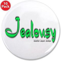 """Jealousy Logo 3.5"""" Button (10 pack)"""