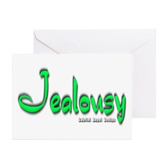 Jealousy Logo Greeting Card