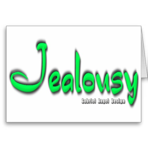 Jealousy Logo Greeting Card