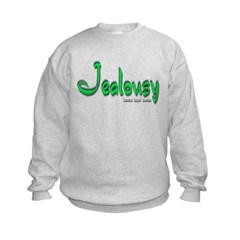 Jealousy Logo Kids Crewneck Sweatshirt by Hanes