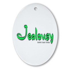 Jealousy Logo Oval Ornament