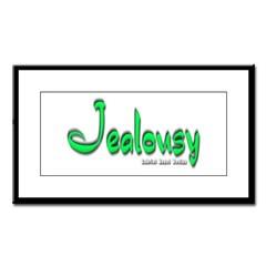 Jealousy Logo Small Framed Print