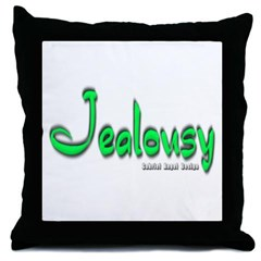 Jealousy Logo Throw Pillow