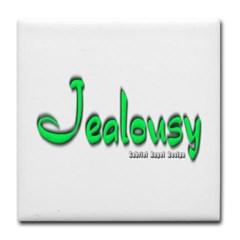 Jealousy Logo Tile Coaster