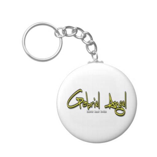 Gabriel Angel Logo Basic Button Keychain