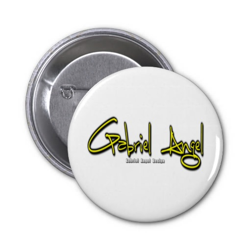 Gabriel Angel Logo Pinback Buttons