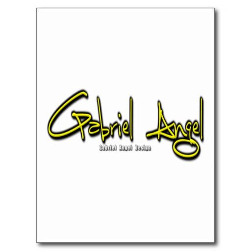 Gabriel Angel Logo Postcard