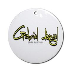 Gabriel Angel Ornament (Round)