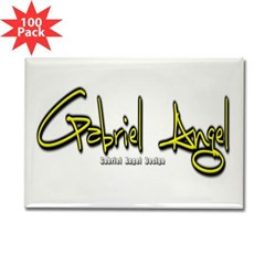 Gabriel Angel Rectangle Magnet (100 pack)