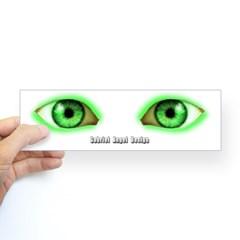 Envy Green Eyes Bumper Sticker