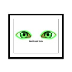 Envy Green Eyes Framed Panel Print