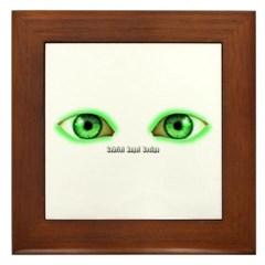 Envy Green Eyes Framed Tile