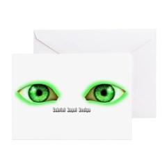 Envy Green Eyes Greeting Cards (Pk of 10)