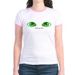 Envy Green Eyes Junior Ringer T-Shirt