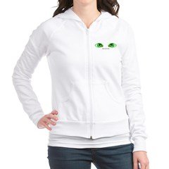 Envy Green Eyes Junior Zip Hoodie