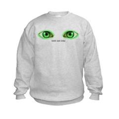 Envy Green Eyes Kids Crewneck Sweatshirt by Hanes