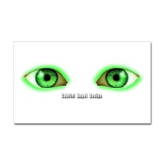 Envy Green Eyes Rectangle Decal