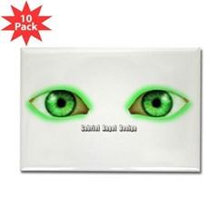 Envy Green Eyes Rectangle Magnet (10 pack)