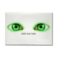 Envy Green Eyes Rectangle Magnet