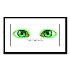 Envy Green Eyes Small Framed Print