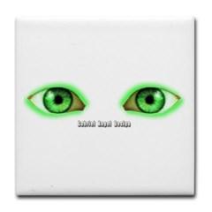 Envy Green Eyes Tile Coaster
