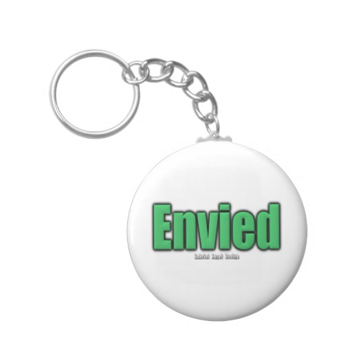 Envied Basic Button Keychain