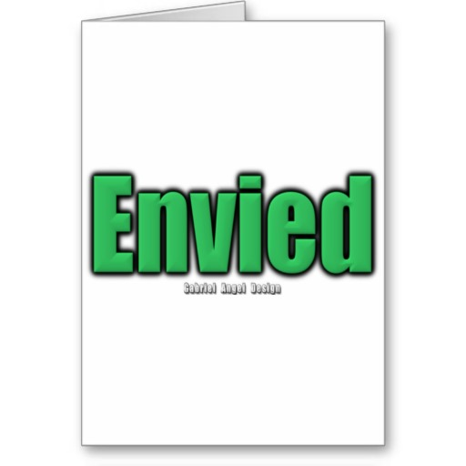 Envied Greeting Card