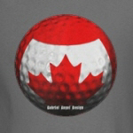 canadian flag golf ball