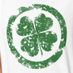 Circled 4 Leaf Clover