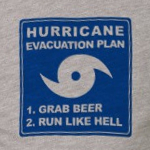 Hurricane Evacuation 1. Grab Beer 2. Run Like Hell