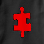 Red Missing Jigsaw Piece