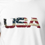USA in Flag Lettering
