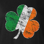 Distressed Irish Shamrock Flag